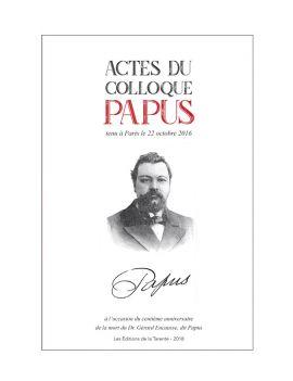 Les Actes du colloque Papus...